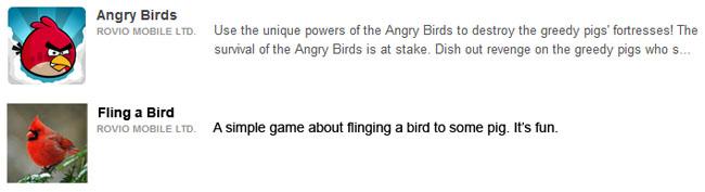 App comparison angry bird